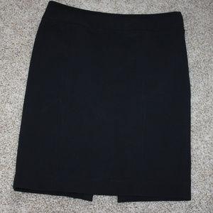 Kenneth Cole Black Pencil Skirt Side Zip Size 4